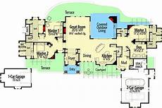 tuscan house designs and floor plans plan 54208hu striking tuscan home with vaulted great room