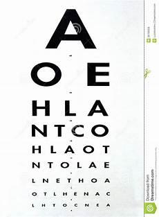 Snellen Eye Examination Chart Eye Examination Snellen Chart Stock Photo Image Of