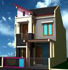 Desain Dan Denah Rumah 2 Lantai Tipe 36 Desain Denah