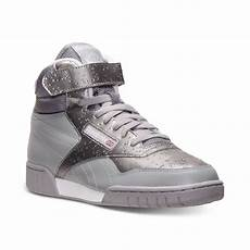 lyst reebok ex o fit mid wt casual sneakers in gray for