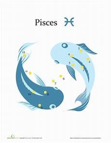 pisces constellation worksheet education