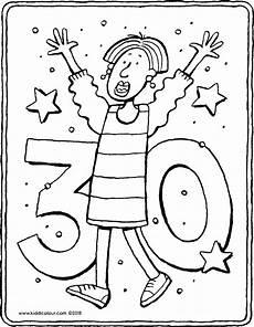 Ausmalbilder Thema Geburtstag 30 Geburtstag Kiddimalseite
