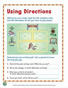worksheets on directions for grade 4 11747 using directions grade 2 map skills printable maps and skills sheets