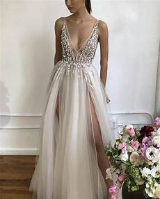2019 prom dress 2019 prom dresses long tulle v neck evening gowns sequin beaded slayingdress