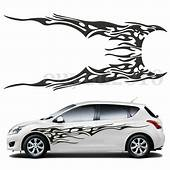 Pair 83 X 19 Car Decal Vinyl Graphics Two Side