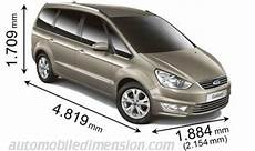 Ford Galaxy Abmessungen - dimensions of ford cars showing length width and height