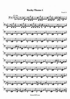 rocky theme 1 sheet music rocky theme 1 score hamienet com