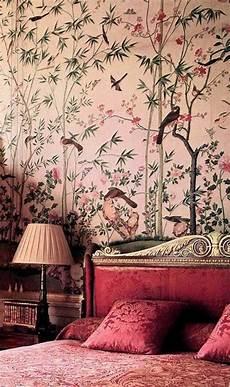 Rosa Tapeten Schlafzimmer - rosa wandfarben englische tapetenmuster schlafzimmer
