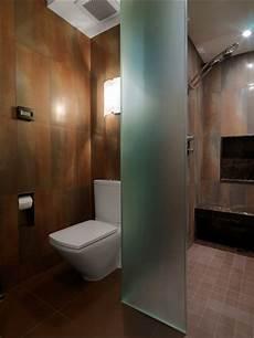 Bad Trennwand Glas - glass wall dividers bathroom glamor and modern style