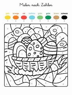 Ausmalbilder Ostern Rechnen Malen Nach Zahlen Osternest Ausmalen Zum Ausmalen