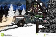 chevy weihnachten truck and barn at stock photo image of