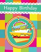Happy Birthday Greeting Cards Free Vector Download 16671