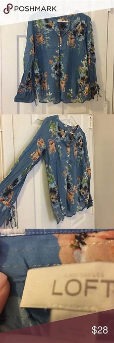 three creative lofts fit for stylish loft floral blouse size small worn once or great