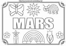 Mois De Mars 224 Colorier 224 Gommettes Et En Couleur