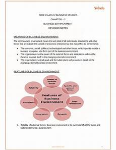 cbse class 12 business studies chapter 3 business environment revision notes