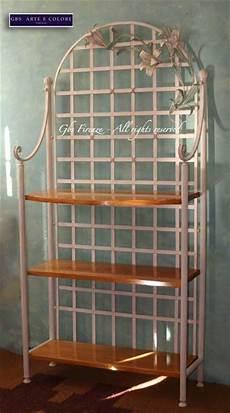 etagere in ferro etagere in ferro battuto grandi gigli colore tempera