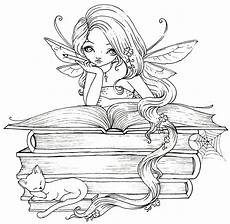 coloring pages of fairies for adults 16630 book lover perhaps she s reading tales coloring pages coloring