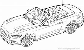 Ford Mustang Convertible  2015 Top View Printable
