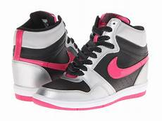 Nike Wedges White Pink nike sky high sneaker wedge black metallic silver