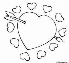 cupid arrow through the coloring pagesfree