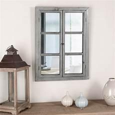 miroir pour fenetre miroir fen 234 tre rectangulaire gris en bois photo 9 20