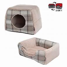 gifi panier chien niche panier chien 2 en 1 polaire design 233 cossais panier pour chien et chat panier et