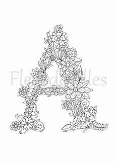 coloring pages printable 14924 welcome to letter a by fleurdoodles after payment you will get 1 digital pdf file without