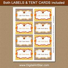 thanksgiving food label cards template thanksgiving tent cards and labels brown and yellow