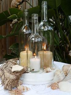 Wedding Centerpiece White Wine Bottle Candle Holder