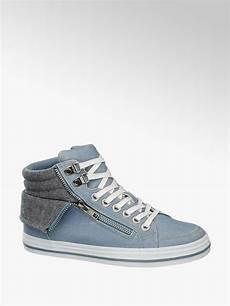 damen mid cut sneakers venice in blau deichmann