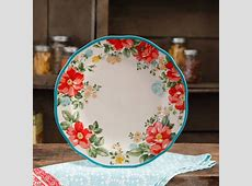 """The Pioneer Woman Vintage Floral 10.5"""" Teal Dinner Plate"""