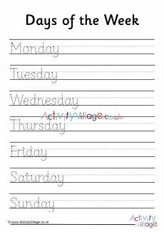 cursive handwriting worksheets days of the week 21350 days of the week handwriting worksheet