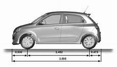 Renault Twingo Fahrzeugabmessungen Technische Daten