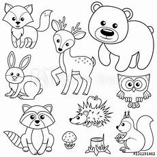 woodland animals coloring pages 17187 quot forest animals fox raccon hare deer owl hedgehog squirrel agaric and tree stump