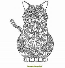 katzen malvorlage mandala cat mandala coloring page free