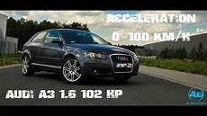audi a3 8p 1 6 102 hp acceleration mt