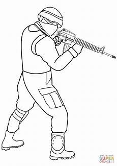Ausmalbilder Polizei Spezialeinheit Special Forces Soldier Coloring Page Free Printable
