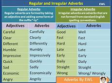 regular and irregular adverbs vocabulary home