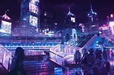 Neon Retro Cyberpunk Wallpaper by 2560x1440 Futuristic City Cyberpunk Neon Digital