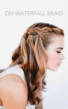 waterfall braid wedding hairstyles for hair once wed