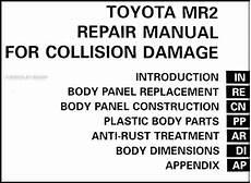 auto repair manual online 1995 toyota mr2 regenerative braking 1991 1995 toyota mr2 body collision repair shop manual original