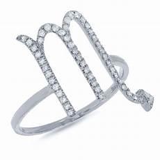 0 21ct 14k white gold diamond zodiac scorpio ring co56006629