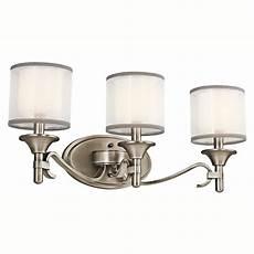 shop kichler lighting 3 light lacey antique pewter bathroom vanity light at lowes com
