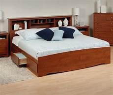 Kopfteil Bett Mit Ablage - platform storage bed w bookcase headboard from 406 60