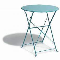 table ronde metal table de jardin ronde pliante 2 personnes m 233 tal bleu