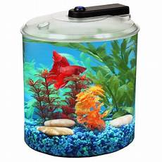hawkeye 1 5 gallon betta 360 aquatank with led lighting walmart com