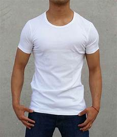 new 2 pack plain white crew neck t shirt slim fit casual