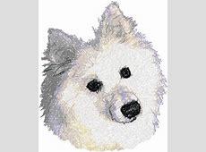 Advanced Embroidery Designs   American Eskimo Dog