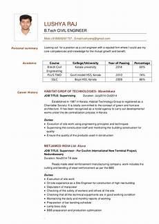 civil engineer resume lushya raj