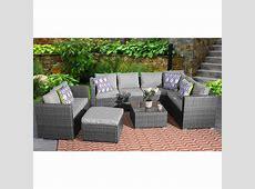 9 Seater Rattan Corner Garden Furniture Set   Dreams Outdoors